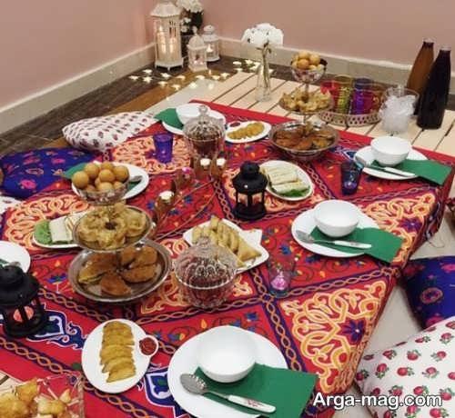 تزیین جالب میز افطار