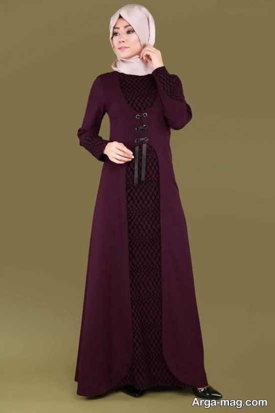 مدل مانتوی اسلامی با رنگ های خاص