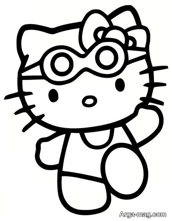 نقاشی کیتی با طرح زیبا