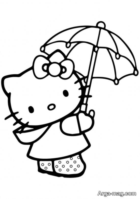 مدل های زیبا نقاشی کیتی برای کودکان و رنگ آمیزی های جالب کیتی
