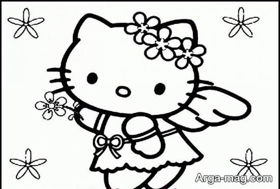 نقاشی کارتونی کیتی