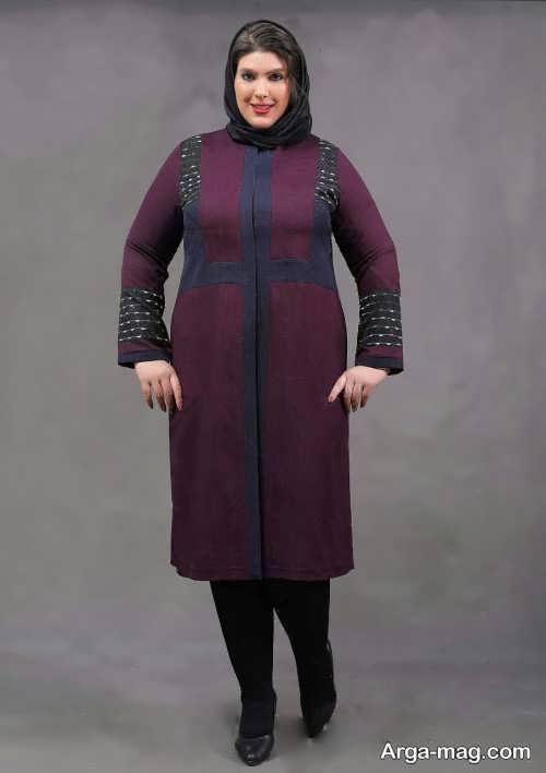 مدل مانتو مجلسی برای خانم های چاق