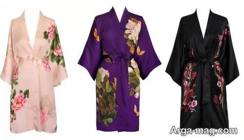 مدل مانتو طرح دار کیمونو
