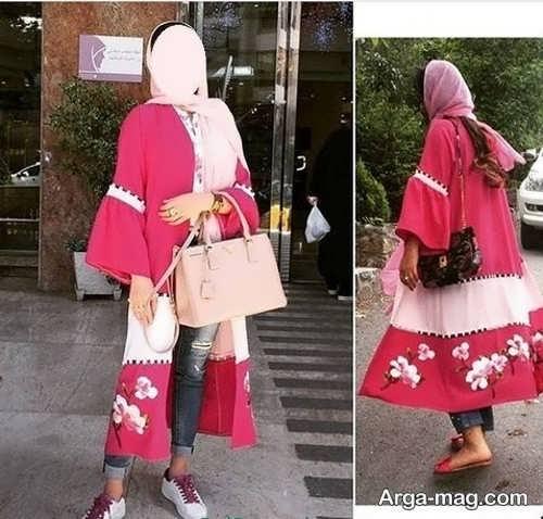 مدل مانتو مجلسی و بلند کیمونو