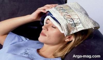 کمپرس آب سرد برای درمان طبیعی سردرد