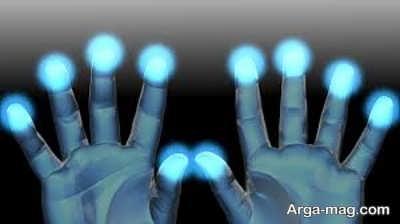 گیرنده های لمسی نوک انگشتان دست