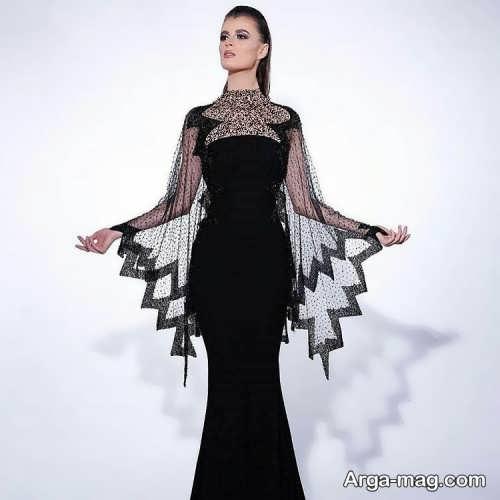 مدل لباس مجلسی آستین کلوش زنانه