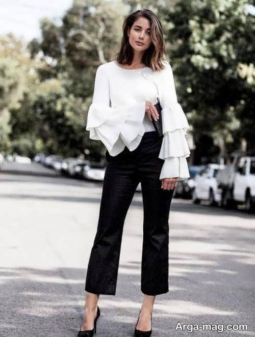 مدل بلوز آستین کلوش