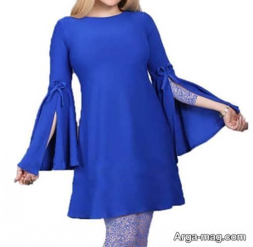 مدل لباس مجلسی ساده آستین کلوش