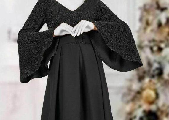 مدل لباس مجلسی آستین کلوش