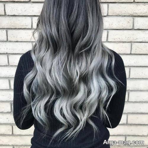 رنگ مو روشن دودی خاکستری