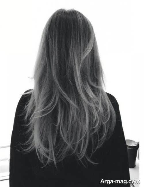 رنگ مو تیره دودی خاکستری