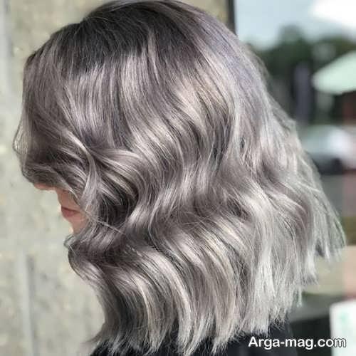 رنگ مو خاکستری دودی