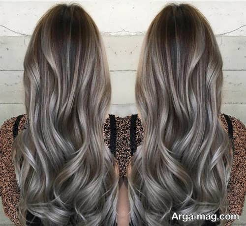 رنگ موی روشن دودی خاکستری