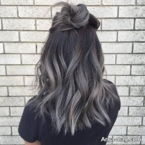رنگ موی دخترانه دودی خاکستری