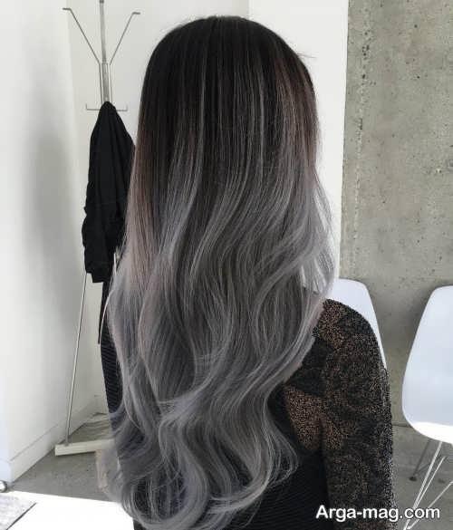 رنگ مو دودی خاکستری روشن