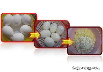 تخم مرغ رنده شده