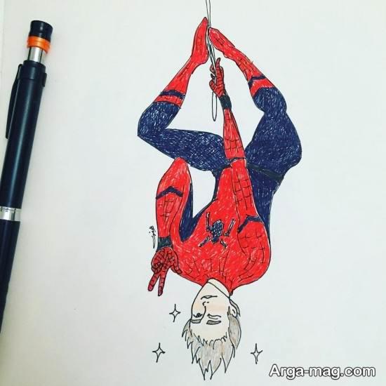 نقاشی مرد عنکبوتی برای کودکان