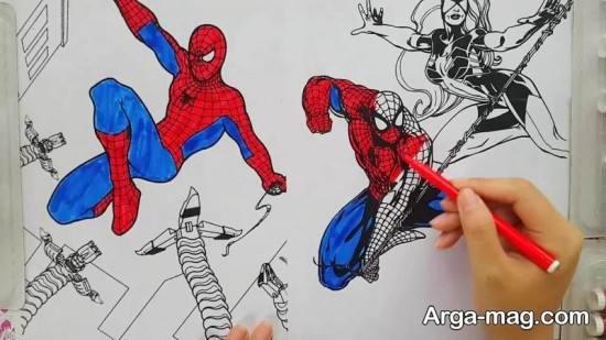 رنگ آمیزی مرد عنکبوتی