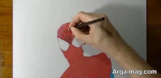 رنگ آمیزی جذاب مرد عنکبوتی