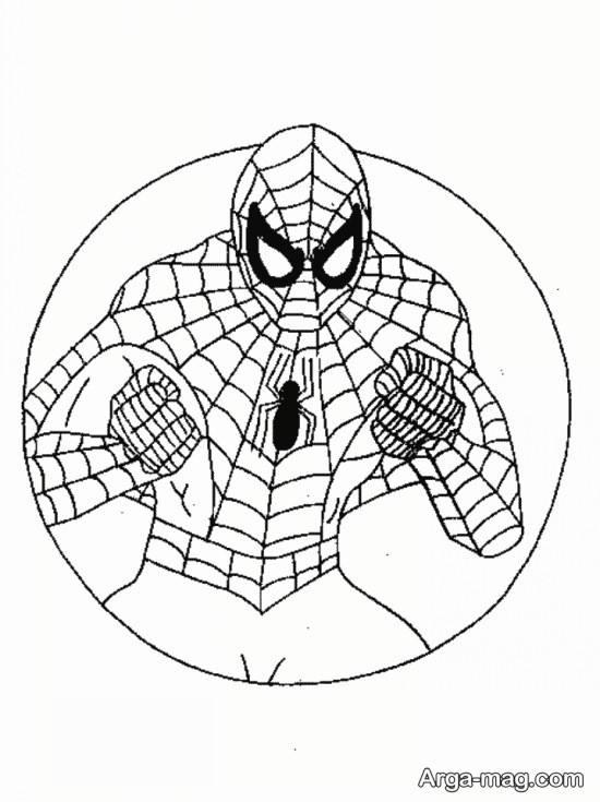 نقاشی جذاب مرد عنکبوتی