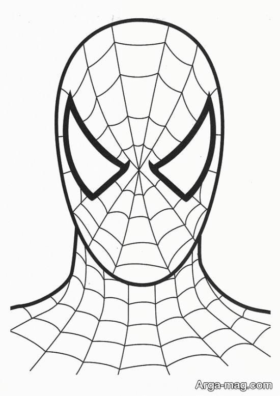 نقاشی ترسناک مرد عنکبوتی