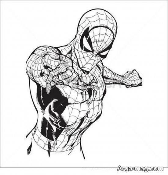 نقاشی خلاقانه مرد عنکبوتی