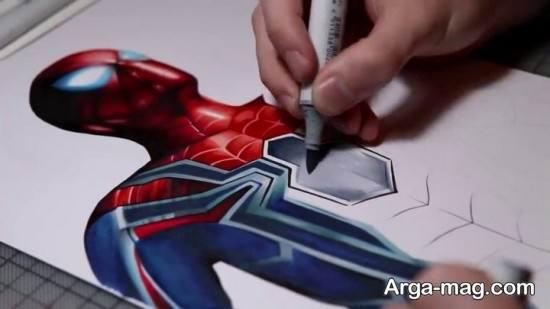 نقاشی رنگ آمیزی مرد عنکبوتی