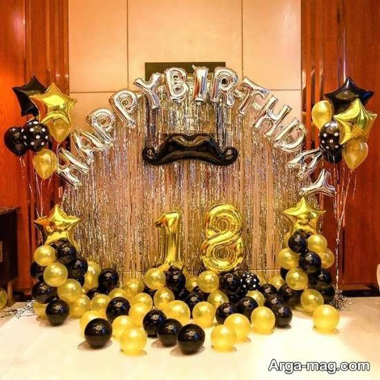جشن تولد با تم مشکی طلایی