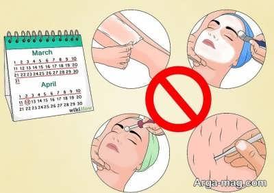 عدم کندن موها از ریشه برای انجام لیزر