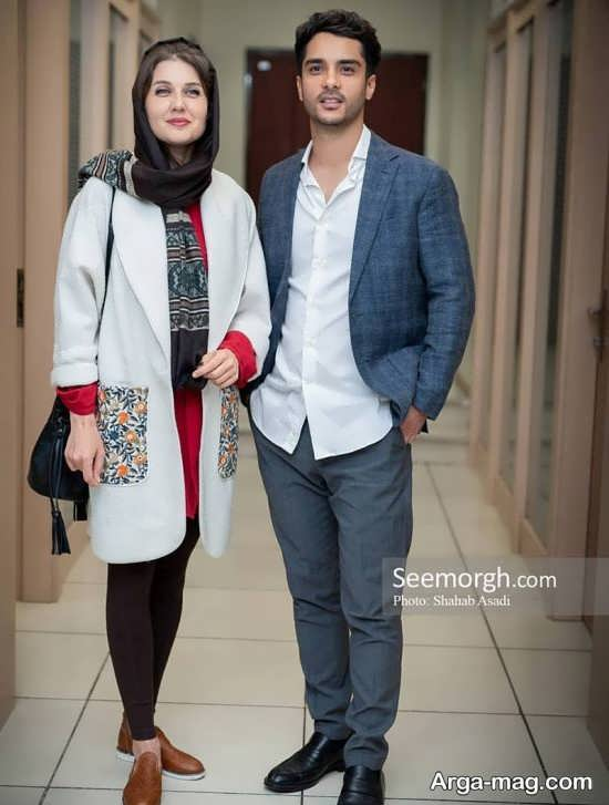 تیپ جذاب ساعد سهیلی و همسرش