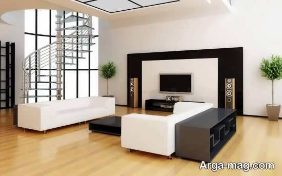 طراحی ساده اتاق پذیرایی