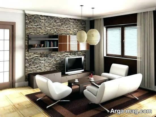 دیزاین مینیمال اتاق پذیرایی