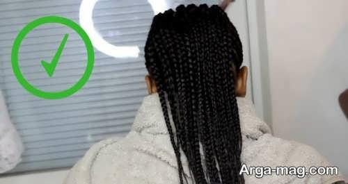 بافت موی زیبا و افریقایی