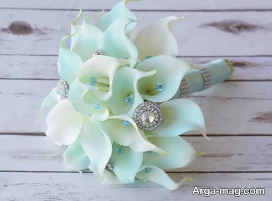 دسته گل مصنوعی زیبا برای عروس