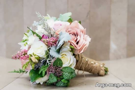 دسته گل عروس زیبا و مصنوعی