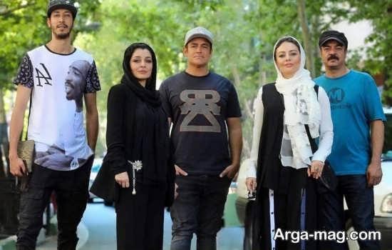 عکس سعید آقاخانی به همراه بازیگران فیلم رحمان 1400