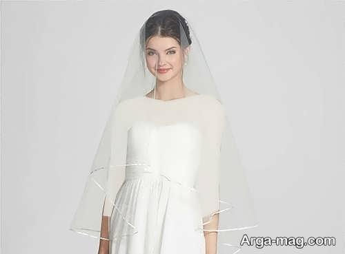 تور ساده برای عروس