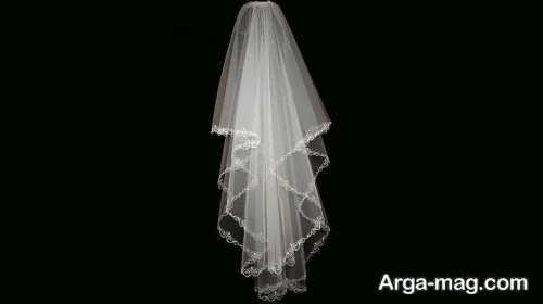 تور حاشیه دار عروس