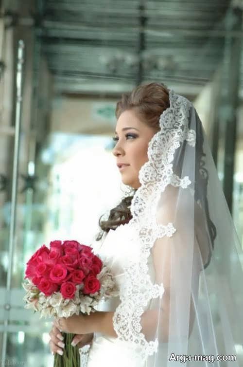 مدل تور حاشیه دار برای عروس