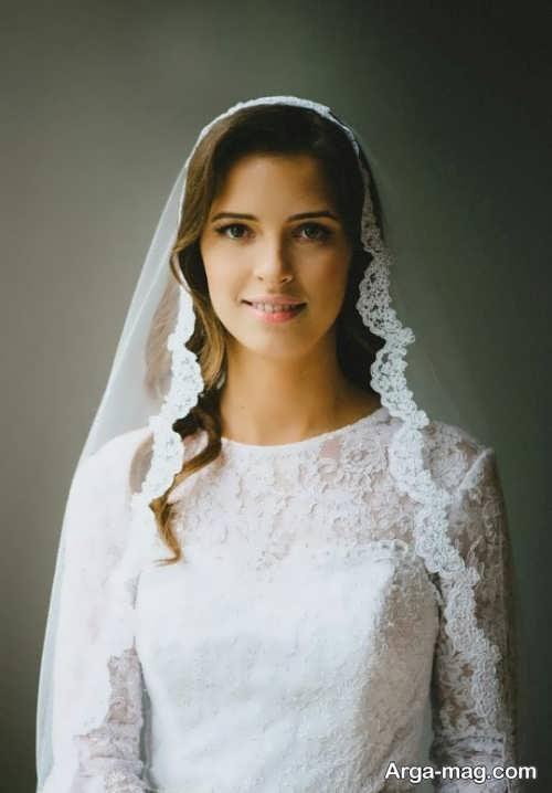 تور حاشیه دار و زیبا عروس