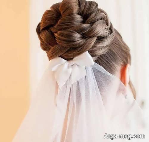 تور ساده و شیک برای عروس