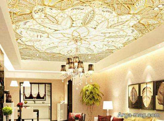 کاغذ دیواری سقفی شیک و زیبا
