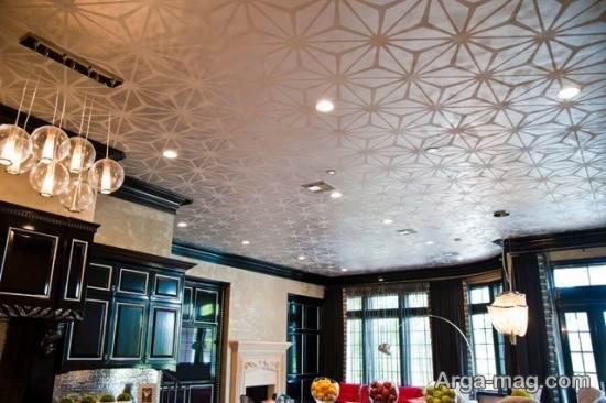 طرحی متفاوت از کاغذ دیواری سقف