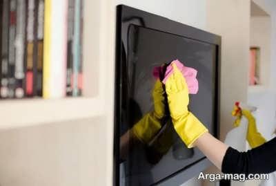 پاک کردن صفحه نمایشگر تلویزیون