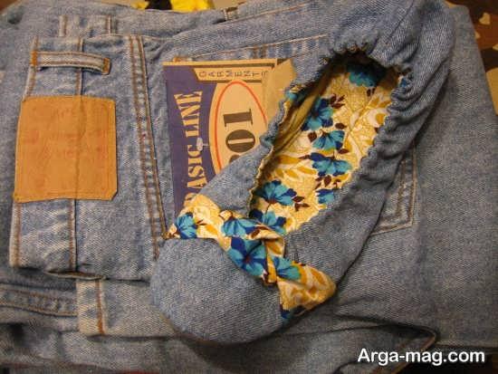 ساخت کاردستی قشنگ با شلوار جین