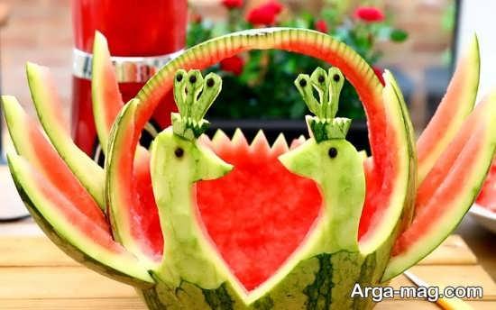 ایده های جذاب برای تزئینات هندوانه