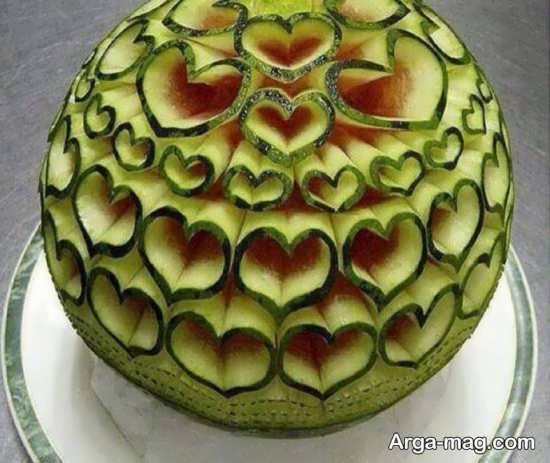 تزئین هندوانه با ایده خاص