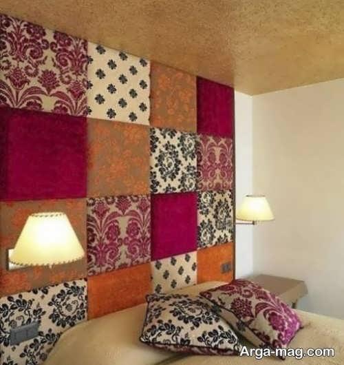 تزیین اتاق خواب با پارچه های رنگی
