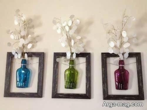تزیین دیوار با گلدان